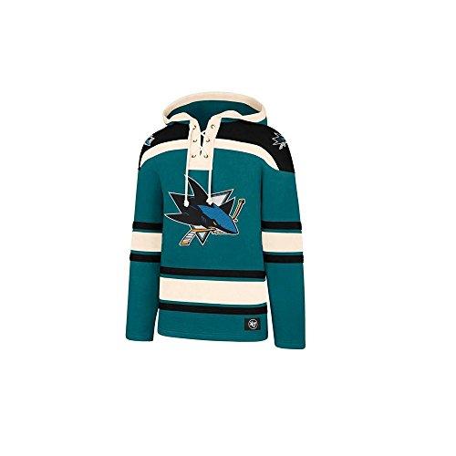 47 Brand NHL San Jose Sharks Lacer Hoody Jersey Trikot Kapuzenpullover Forty Seven
