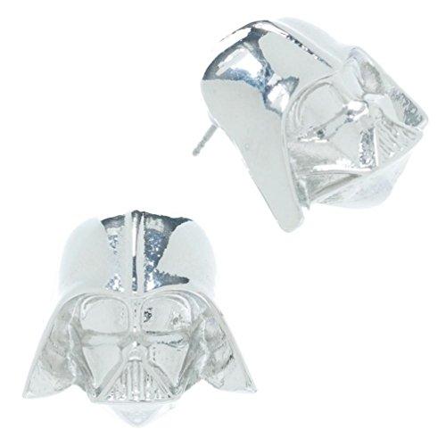 Star Wars Darth Vader Pendientes Plata