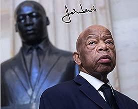 John Lewis Reprint Signed Autographed 8x10 Poster Congressman Civil Rights Activist Photo Reproduction Print