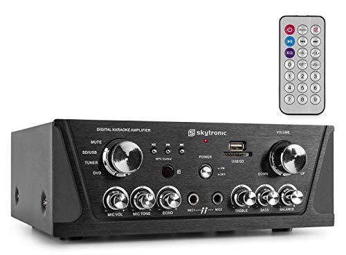 Skytronic 103.134 2.0Kanäle Stereo Schwarz - AV-Receiver (2.0 Kanäle, Stereo, 500 mV, 8 Ohm, Polklemme, Verkabelt)