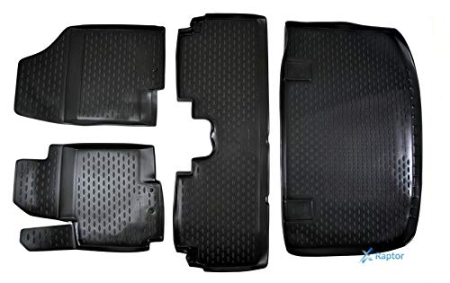 J&J AUTOMOTIVE Exklusiv 3D TPE 5-TLG Set Gummimatten + Kofferraumwanne für ix20 ab 2010