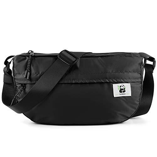 TAOCOCO Bolsa de Cintura Multifuncional Bolsa con Cremallera para Acampar Deportivo Impermeable Senderismo Viajes de Fitness - Verde Militar/Negro