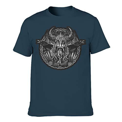 Männer T-Shirts Baumwolle Hemd, Schlank - Navy l