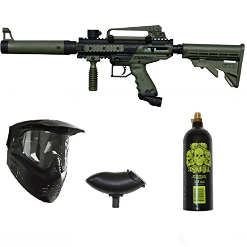 3Skull Tippmann Cronus Tactical Paintball Gun Package Set - Olive
