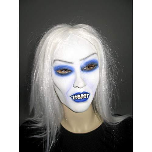Amakando Masque Femme Dracula Costume Vampire Gothique suceuse de Sang Cagoule Femme Goule Costume pour Halloween déguisement Carnaval Horreur