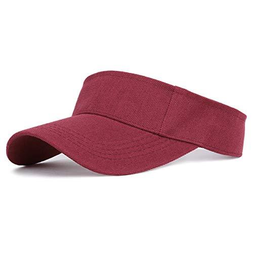 HENGYUSM Sombrero para el Sol Gorra para el Sol para Deportes Hombres Mujeres Visera de algodón Ajustable Protección UV Top Vacío Tenis Golf Correr Sombrero Protector Solar