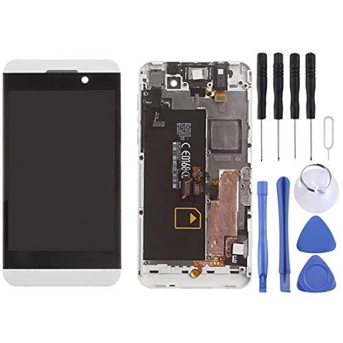 ZHANGJIALI Teléfonos Móviles Piezas de Repuesto Pantalla de Panel táctil de Cristal digitalizador Pantalla LCD de Repuesto y digitalizador Asamblea con Marco Completo for Blackberry Z10 4G (Negro)