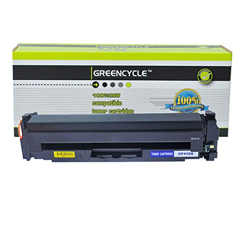 GREENCYCLE High Yield Compatible for HP CF410X 410X Toner Cartridge Replacement for Color Laserjet Pro MFP M477fdn MFP M477fdw MFP M477fnw MFP M377dw M452dn M452nw Series Printer (Black, 1 Pack)