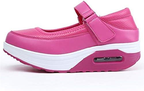 أحذية نسائية مسطحة - أحذية كاجوال للنساء أحذية جلدية ممرضة أحذية ناعمة أسفل مسطحة رياضية ترفيهية بفتحة مجوفة للسيدات (وردي 8)