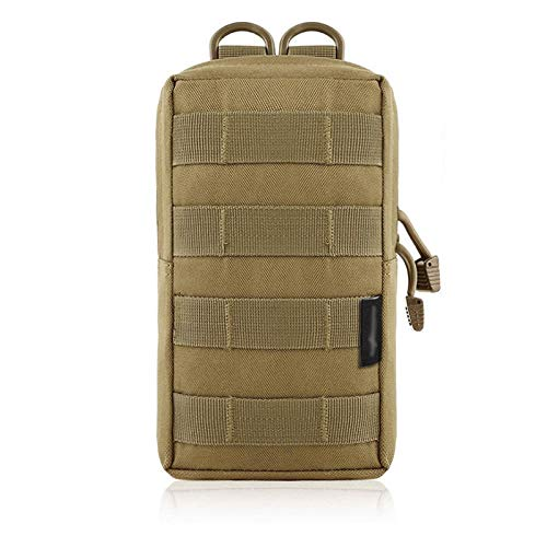 LLS Fanny POacks Tactical Belt Bag - Molle Pouch Bag Outdoor Vest Waist Pack Hunting Backpack Accessory Gadget Gear Sport Bag Compact Water-resistant Bag Wear-resistant and durable (Color : Khaki)