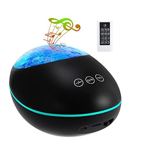 SENZHILINLIGHT USB-Fernbedienung Ocean Projektionslampe Hochleistungs-Lautsprecher Eingebaute Musik Acht Beleuchtungsmodi
