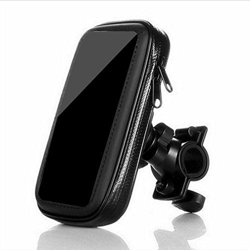 UKCOCO Bolso del teléfono del manillar de la bicicleta Bolso del sostenedor del montaje de la bici impermeable para el teléfono celular móvil de 5 pulgadas (negro)