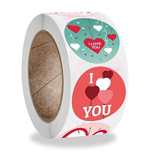 Exquisite Round I Love You Stickers 50-500pcs for Valentine's Day Wedding Engagement Lover Romantic Gifts Decor Sealing Labels