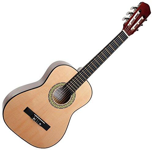 Classic Cantabile AS-851 1/2 Konzertgitarre Natur (Akustikgitarre, geeignet für Kinder im Alter von 6-8 Jahren, Bundmarkierung, Nylonsaiten)