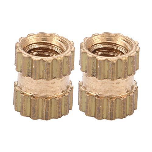 Inserto moldeado, tuerca incrustada, inserto moleteado, inserto de latón liviano, compacto para(M2.5 * 3 * 3.5 (100pcs))