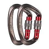 XINDA Screwgate Locking Carabiner Clip - Professional Rock Climbing Carabiner Screw Lock,Heavy Duty Carabiners for...