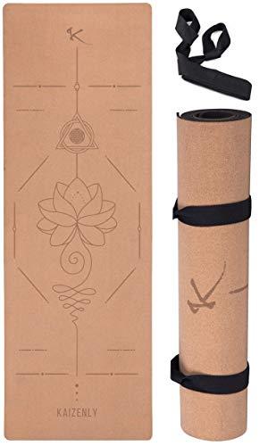 KAIZENLY Pro Esterilla de Yoga Ecológica - Corcho Natural,