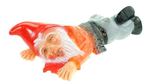 Gartenzwerg überfahren aus bruchfestem PVC Zwerg Made in Germany Figur