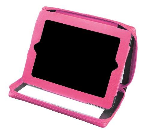 Alassio 41197 - Tablet-PC hoes, van echt leer, roze