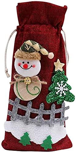 Venta de decoraciones navideñas Bolsa de vino tinto Juego de botellas de vino Decoración de mesa para el hogar Suministros para fiestas navideñas Decoración de Navidad Adornos para exteriores Rega