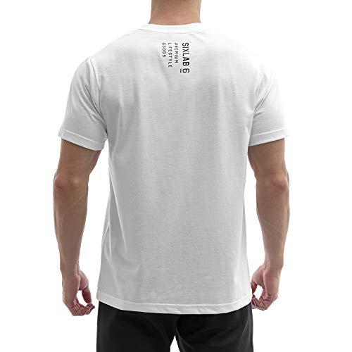 Sixlab Trademark Oversize T-Shirt Muscle Shirt Gym Fitness Longshirt (XL, Weiß)