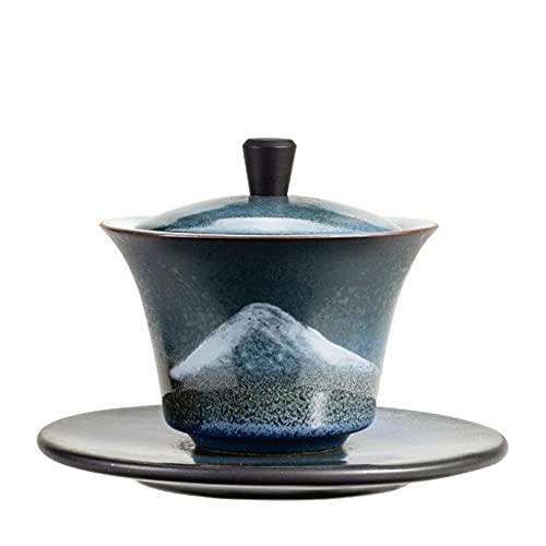 KASILU YUERD910 14. 5ML. Retro Paesaggio in Ceramica Gaiwan Tradizionale Cinese Tradizionale tè pigmentato for la zuppiera Resistente al Calore Kung Fu Ciotola da tè Tazza di tè