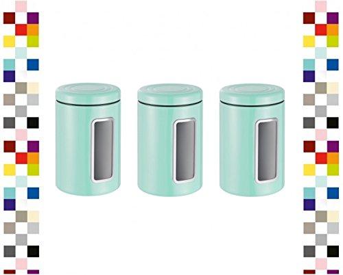 WESCO 321206-51-3 Set Vorratsdose Classic Line Rund MINT Keksdose Kaffeedose