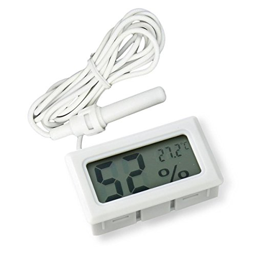 ARCELI 2-in-1 LCD digitale con termometro e igrometro integrato per incubatrice per pollame rettile - Bianco