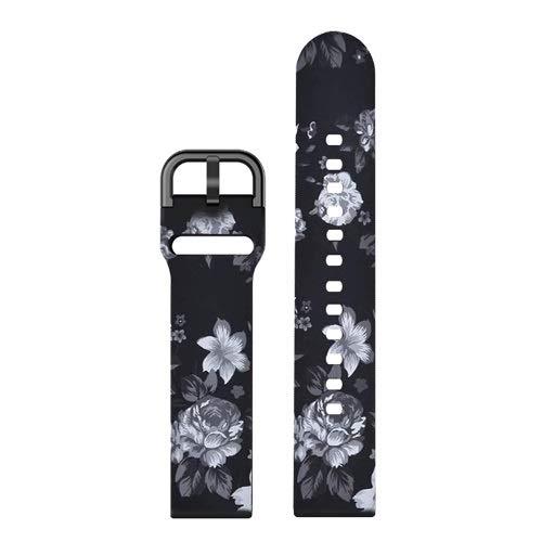 GZMYDF 20 mm 22mm Banda de Reloj de impresión de Bricolaje para Samsung Galaxy Watch Active 2 Strap Silicone Reemplazo Band para Huawei Watch Pulsera GT 2E