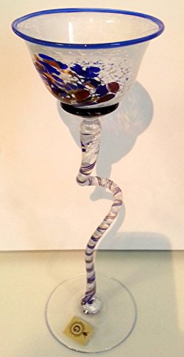 Bougeoir au longue zier Pied colorée glaskerzenl euchter pour boule Bougies Bleu, Rouge, Blanc/torsadée soufflé, verre en cristal Pied, Bougeoir Hauteur env. 26–29 cm Le colonel dorfer Niche en verre