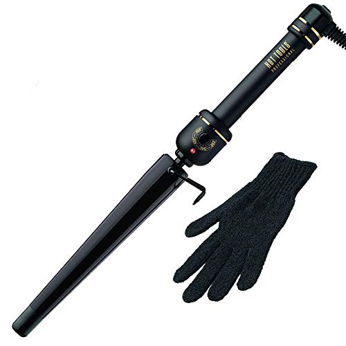 2k irons HOT TOOLS Professional Black Gold XL Tapered Curling Wand for Long Lasting Curls or Waves, 1 1/4 Inches