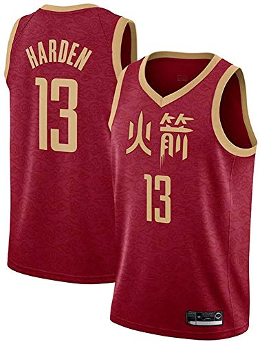 Basketball NBA Jersey Rockets 13# James Harden Jersey Fan Edition Trikots Atmungsaktive Mesh Wear Resistant Uniform Fitness Sport Wettkampfweste,B,XL