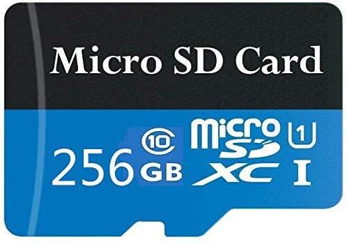 Genhao Tarjeta Micro SD SDXC de 256 GB/400 GB/512 GB de alta velocidad clase 10 con adaptador SD (256 GB)