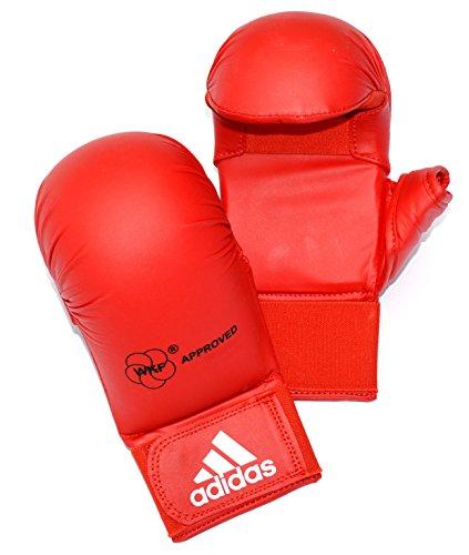 adidas WKF Karate-Handschuhe mit Daumen, Größe S, Rot