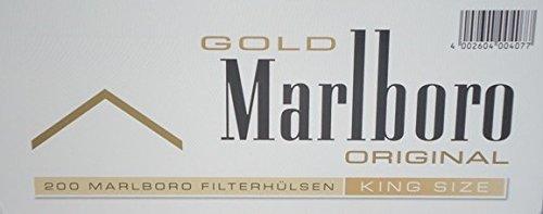 Marlboro Gold - Set de 1000 tubos con filtro para cigarrillos