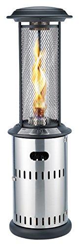 Enders® Terrassenfeuer Gas VULANO, 5589, Vormontiert mit stufenloser Regulierung, höhenverstellbar, Transport-Räder, Umkippsicherung