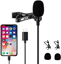 Atpot Lavalier Microphone, 360°Omnidirectional Professional Condenser Mic Compatible with iPhone/iPad/iPod Touch Series for Interview, Studio, Video, Vlogging,YouTube,Recording
