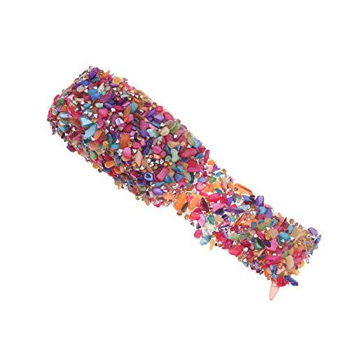 SUPVOX 1 metro de faja de vestido de diamantes de imitación de colores bling para faja de vestir diy cinturón bolsas zapatos adornos ⭐
