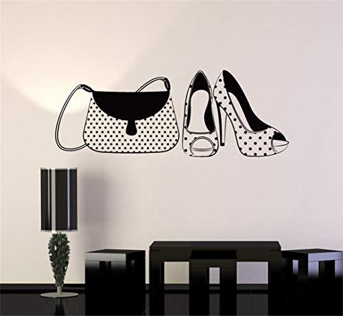 stickers muraux disney Sac à main et chaussures à talons hauts Fashion Woman