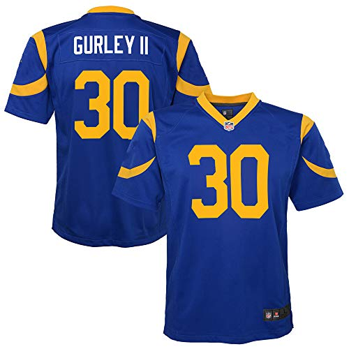 Todd Gurley Los Angeles Rams #30 Blue Kids Youth Alternate Game Day Player Jersey (10-12)