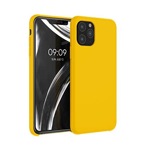 kwmobile Custodia Compatibile con Apple iPhone 11 PRO - Cover in Silicone TPU - Back Case per Smartphone - Protezione Gommata Giallo Zafferano