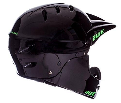 AWE® BMX Full Face Helm schwarz, Größe M 54–58 cm - 3