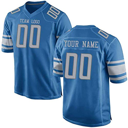 UIOP Custom All Teams Fashion Style Design Football Jerseys Personalized Any Name and Number Jerseys Mens Womens Youth (Detroit Lion)