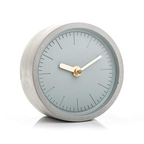 Good Design Works Concrete Clock Beton Uhr-Grau, 13 x 13 x 6 cm