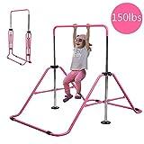 Slsy Gymnastics Bars Kids Kip Training Bars for Home, Folding Horizontal Bars with Adjustable...