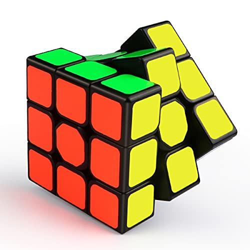 ROXENDA Cubo de Velocidad 3x3, 3x3x3 Qiyi Qihang Speed Cube Etiqueta Súper Duradera con Colores Vivos (3x3x3)
