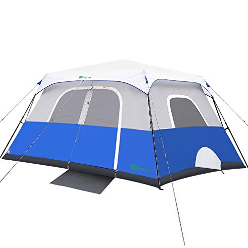 REYLEO Camping Tent, 8 Person Instant Cabin Tent, Easy Setup in 60 Seconds, Weatherproof Family Tent for Camping, Outdoors & Travel, with Ventilated Windows