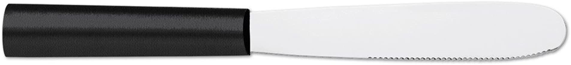product image for Rada Cutlery Super Spreader – Stainless Steel Spreading Knife With Stainless Steel Black Resin Handle Made in USA
