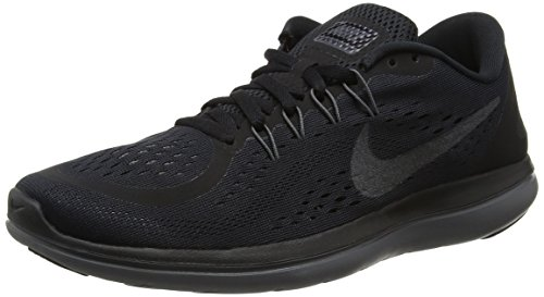 Nike Nike Damen Flex 2017 Rn Traillaufschuhe, Schwarz (Black/MTLC Hematite/Anthracite/Dark Grey 005), 38.5 EU