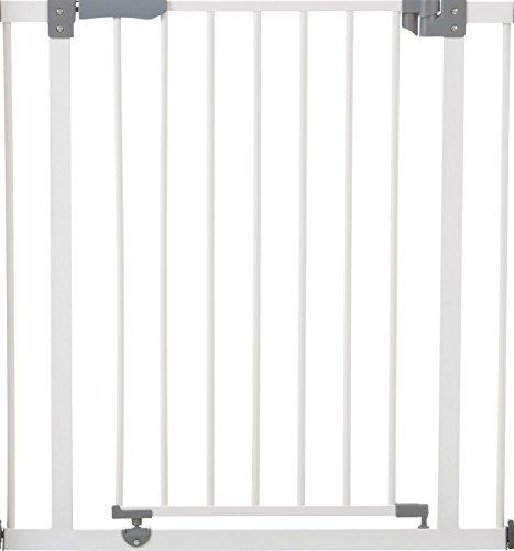 Hauck Barrière de Sécurité pour Enfants Open N Stop / Sans Percage / de 75 à 80 cm / Extensible avec Extensions (pas inclus) / Métal / blanc